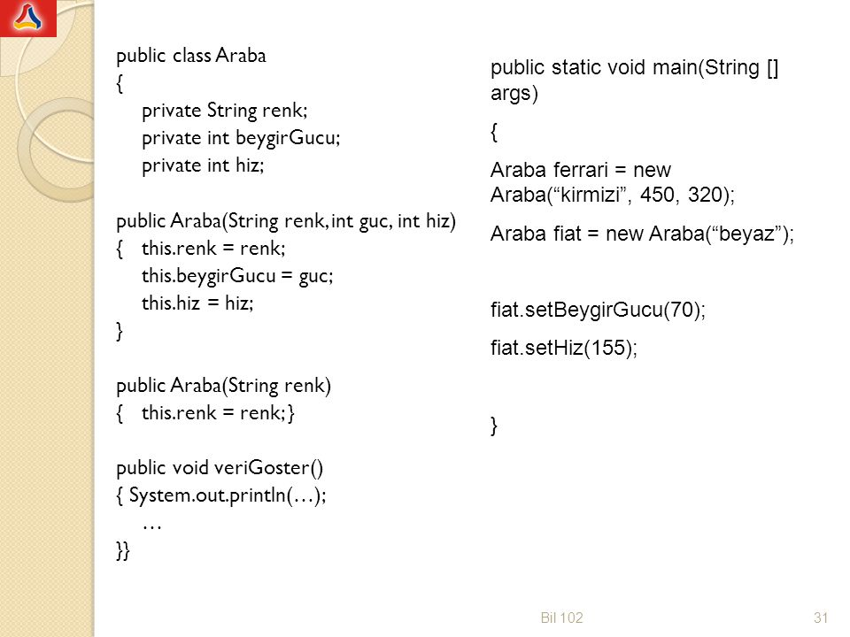 public static void main(String [] args) {